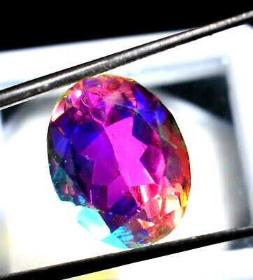 8.55 Ct Natural Rainbow Color Mystic Quarz Zertifizierter Edelstein ZERTIFIZIER