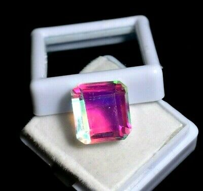 11.20 Ct Natural Rainbow Color Mystic Quarz Zertifizierter Edelstein ZERTIFIZIER