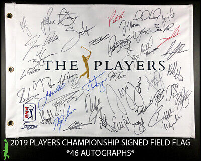 Sports Mem, Cards & Fan Shop 2019 Us Open Autograph Signed Field Flag Rory Mcilroy Fowler Beckett Bas Coa Loa