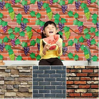 Retro Stone Brick Wallpaper Self Adhesive For Living Room Bedroom Home Decor FG