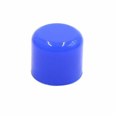 """32mm 1.25"""" Silicone Blanking Cap Intake Vacuum Hose Tube End Bung Blue"""