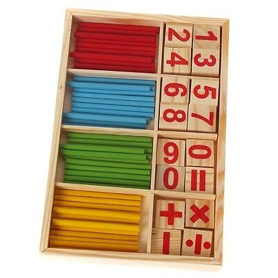 Wooden Blocks Montessori Educational Toys Mathematical Intelligence Sticks FG