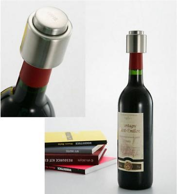 Vacuum Sealed Wine Champagne Bottle Stopper Pump Bar Stainless Steel Tool Cap FG