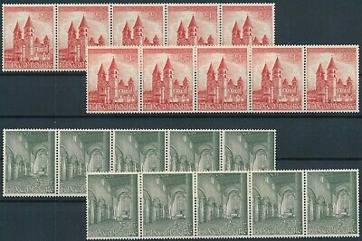[E16222] Luxembourg 1953 good sets (10) of stamps very fine MNH $140