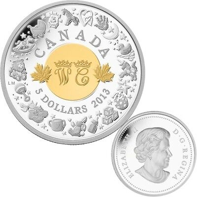 2013 Canada $5 Fine Silver Coin - Royal Infant Toys