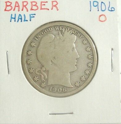 1906-O Silver Barber Half Dollar Beautiful Coin