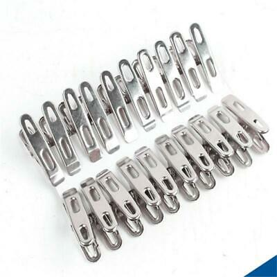 20PC Stainless Steel Washing Line Clothes Pegs Hang Pins Clips Windproof Clamps Home, Furniture & DIY