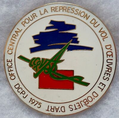 Médaille de table POLICE France OFFICE CENTRAL REPRESSION VOL OEUVRES D'ART 72mm