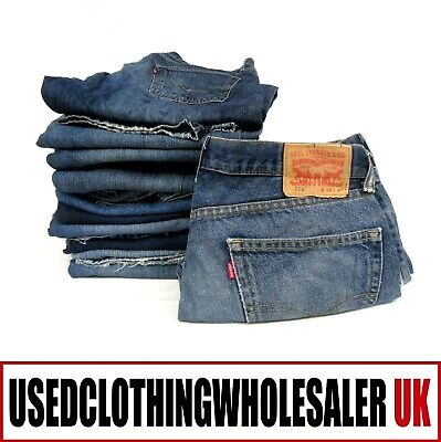25 Men's Women's Grade C Levi Jeans Denim Fabric Wholesale Clothing Joblot