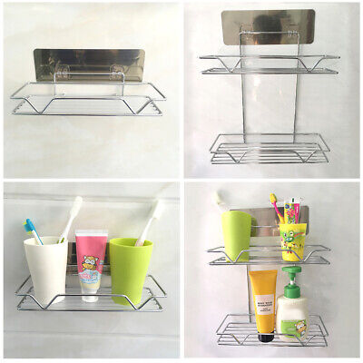 Stainless Steel Kitchen Shower Storage Rack Shelf Wall Mounted Organizer BY