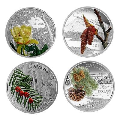 Forests of Canada - 2016 Canada $20 Fine Silver 4 coin set