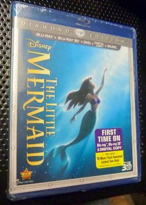 Disney's The Little Mermaid (Blu-ray +3D+DVD+Digital+Music) Brand New Sealed