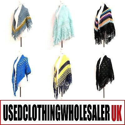25 Women's Vintage Shawls Crochet Knitted Knitwear Joblot Wholesale Clothing