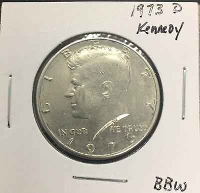 1973 D Kennedy Half Dollar - Circulated - Nice Coin!
