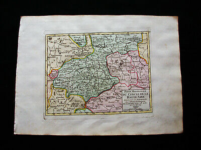1749 VAUGONDY -orig. map: GERMANY, UPPER SAXONY, HOHNSTEIN, BRANDENBURG GERNRODE