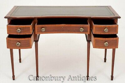 Antique Gillows Desk - Stamped Mahogany Writing Table