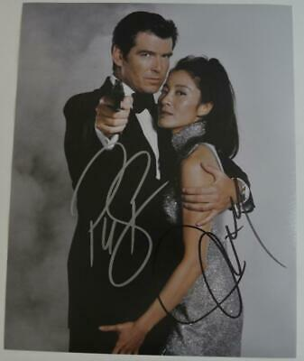 PIERCE BROSNAN & MICHELLE YEOH Autographed Photo JAMES BOND Tomorrow Never Dies