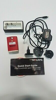 Mylaps Flex Rechargeable Power Transponder with charger AMB Red Classic