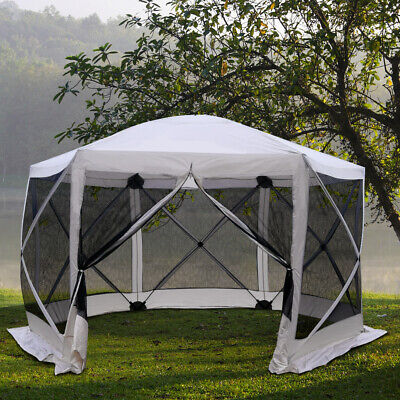 Automatic Hexagon Pop Up Screen Tents Outdoor Shelter