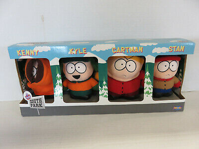 SOUTH PARK 4-Pack Plush Set - KENNY, KYLE, CARTMAN, STAN - NEW! Fun4All (1998)