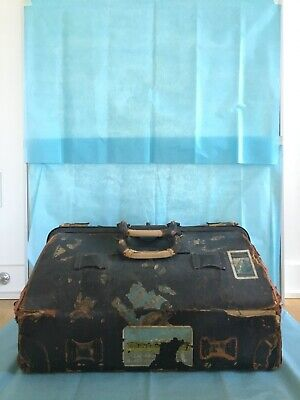 Antique luggage 19th century American from Hudson Valley.