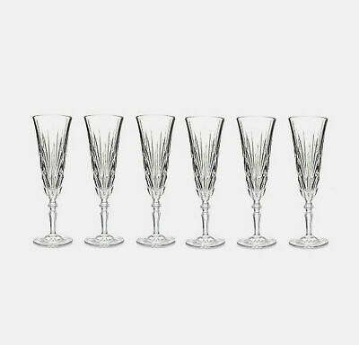 Marquis by Waterford Newberry Set of Six Crystalline Flutes