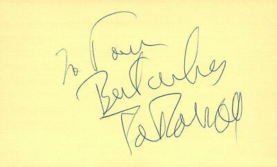 Cards & Papers Edie Adams Actress Comedian Singer 1975 Tv Movie Autographed Signed Index Card