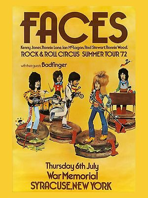 "The Faces New York 1972 16"" x 12"" Photo Repro Concert Poster"