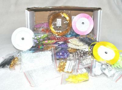 JEWELLERY CRAFT BEADS AND FINDINGS CRAFTING BOX - 2 kilos of accessories