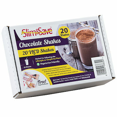 20 Chocolate Flavour Slim & Save Diet VLCD Shakes - Fast Weight Loss - Ketosis