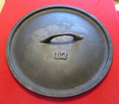 Old Gate Marked No 12 Cast Iron Lid for Skillet or Dutch Oven