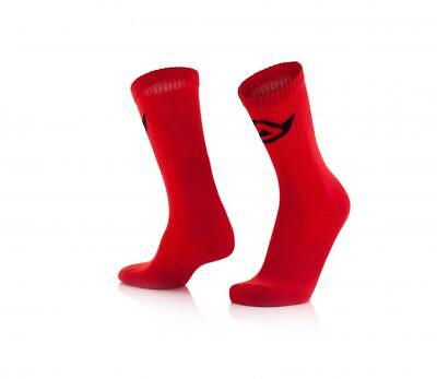 Short motorcycle socks above ankle Red Acerbis COTTON 0022491.110 CA