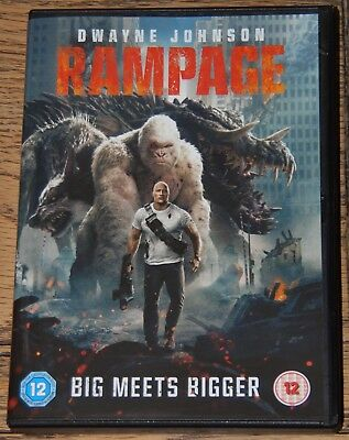 Rampage 2018 Dwayne Johnson Naomie Harris Genuine Uk R2 Dvd + Digital Fast Post