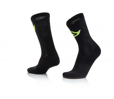 Short motorcycle socks above ankle Black Acerbis COTTON 0022491.090 US