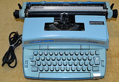 Vintage Smith Corona Coronet Super 12 Electric Typewriter With Case And Papers