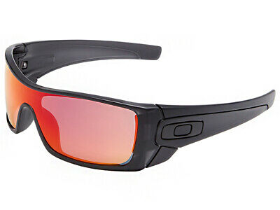 1b7ceba175 OAKLEY BATWOLF SUNGLASSES OO9101-38 Matte Black Ink Ruby Iridium ...