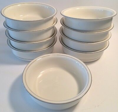 """Lenox Chinastone FOR THE GREY Set of 9 Soup Cereal Bowls 6 1/4"""""""