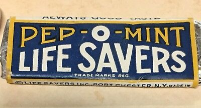 Vintage Rare Unopened 3 Piece Pep-O-Mint Liife Savers Gum - Port Chester, N.y.