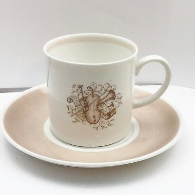 Vintage Susie Cooper Cup And Saucer Musical Decoration