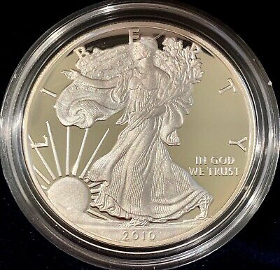 2010 $1 American Silver Eagle Proof Coin One Ounce Fine Silver .999