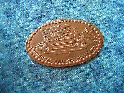 BACK TO THE FUTURE UNIVERSAL HOLLYWOOD COPPER Elongated Penny Pressed Smashed 25
