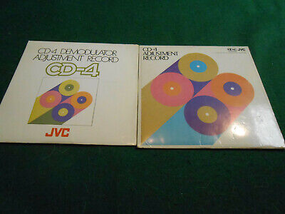 Jvc Cd-4 Demodulator Advjustment Record & Cd-4 Adjustment Record