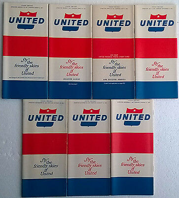 United Airlines system timetable 4//7//96 Buy 2 get 1 free 308UA