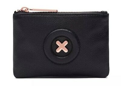 MIMCO Black Leather Small Pouch Daydream Wallet Purse Clutch BNWT Authentic