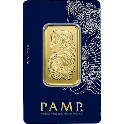 1 oz Gold Bar - PAMP SUISSE Lady Fortuna - .9999 Fine in Sealed Assay Card