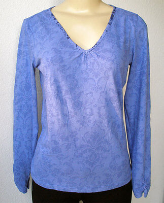 4f5ba21774026e ZARA BLUE BLACK Striped Top Front Frill Long Sleeve V-Neck New (RT ...
