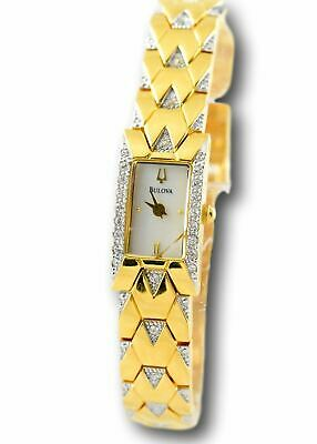 Bulova Women's Gold-Tone Stainless Steel Crystal Accent Watch 98T91