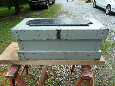 Early 1900s Ship Trunk / Tool Box Newport RI