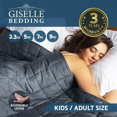 Giselle Bedding Minky Weighted Blanket Heavy Gravity Kids Adult - 2.3/ 5/ 7/ 9KG