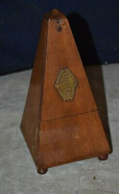 Antique Mahogany Cased Working Metronome De Maelzel With Bell - Paris France
